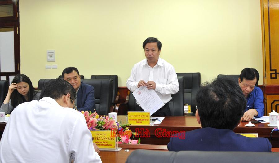 Giám đốc Nguyễn Hồng Sơn khẳng định: Hà Giang có nhiều lợi thế phát triển cây ôn đới.